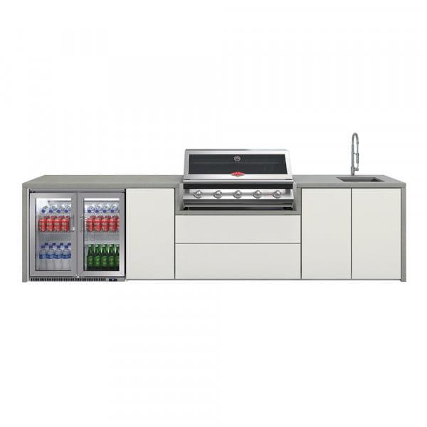 Cuisine Harmony 5 avec BBQ serie 2000 + placard + réfrigérateur double + évier