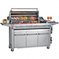 SL4000 acier inoxydable - Barbecue 6 Bruleurs avec chariot