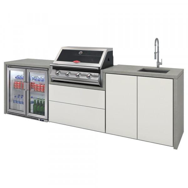 Cuisine Harmony 4 avec BBQ serie 2000 + double réfrigérateur + évier