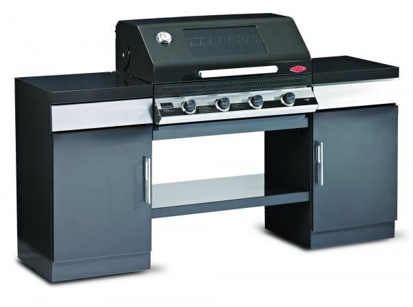1100E Series - Cuisine extérieure 4 bruleurs avec 2 armoires et une étagère de fond